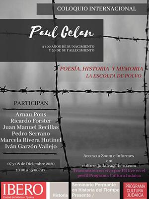 PAUL CELAN COLOQUIO INTERNACIONAL